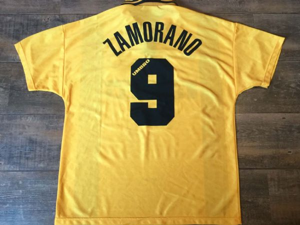 1996 1997 Inter Milan Zamorano Away Football Shirt Adults Large